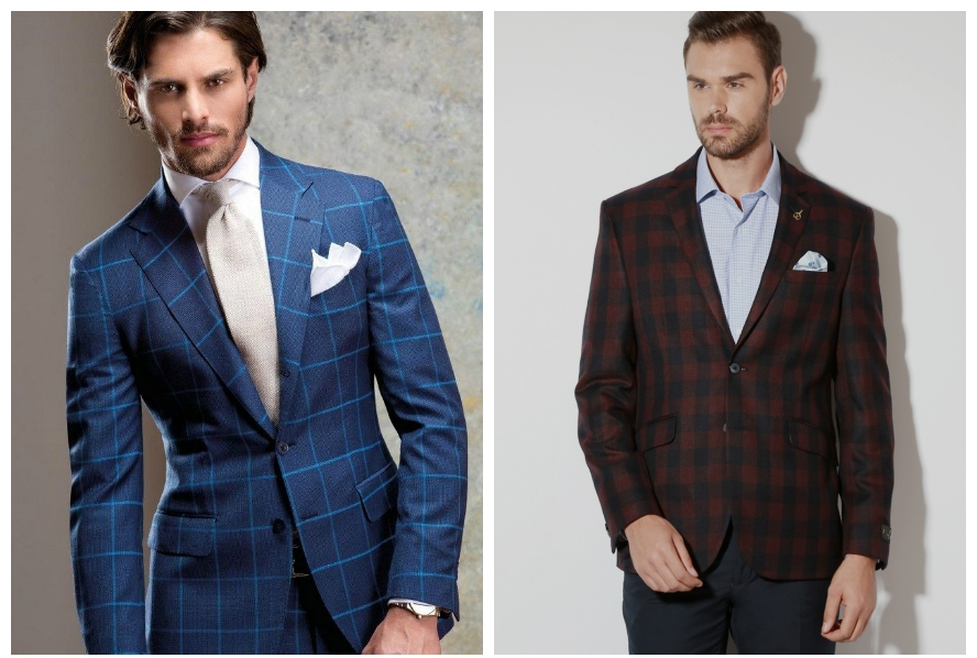 checkered men suits