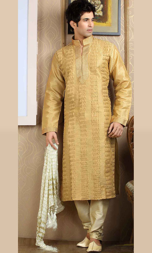 light brown royal kurta pajama