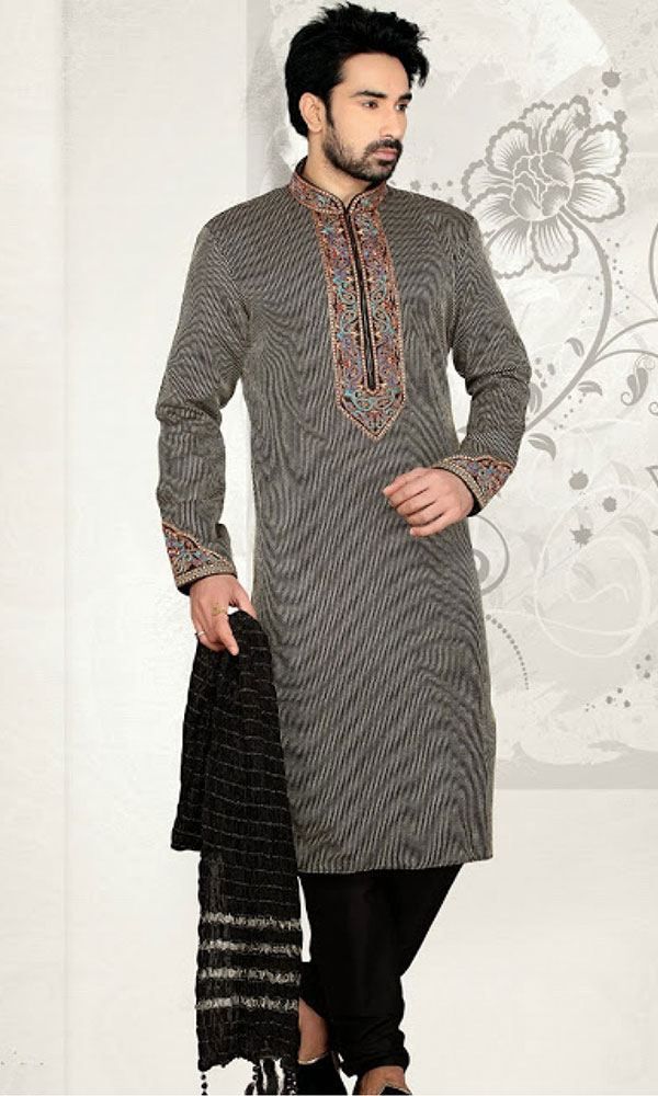 black kurta pajama design
