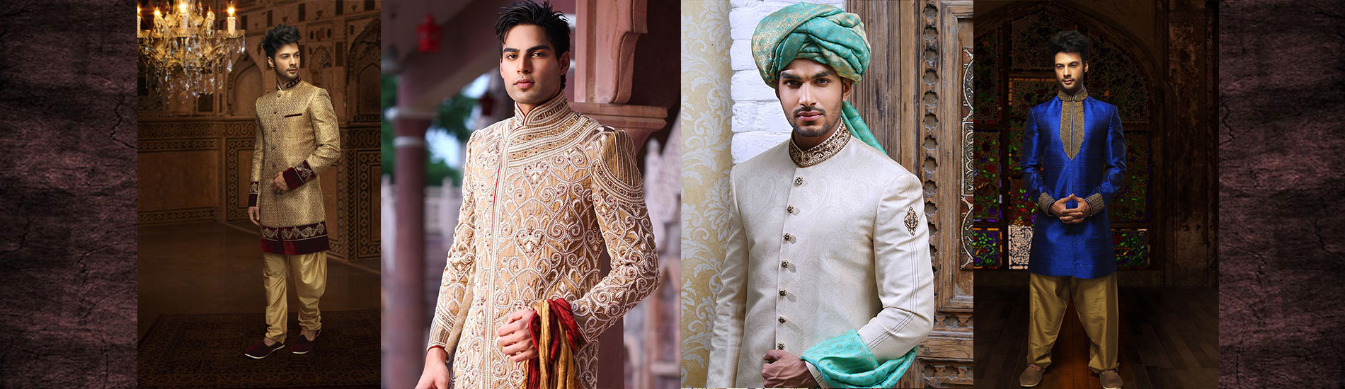 four men wedding dresses