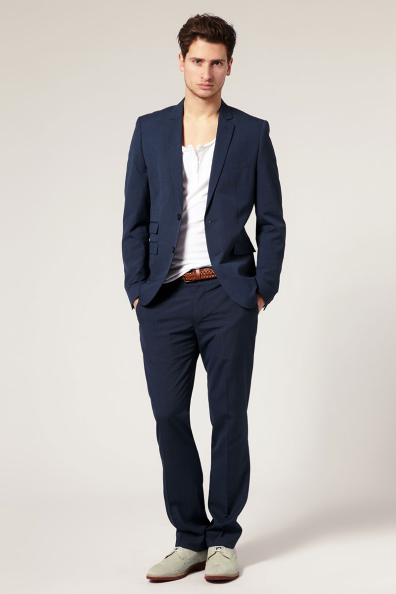 blue formal suit's