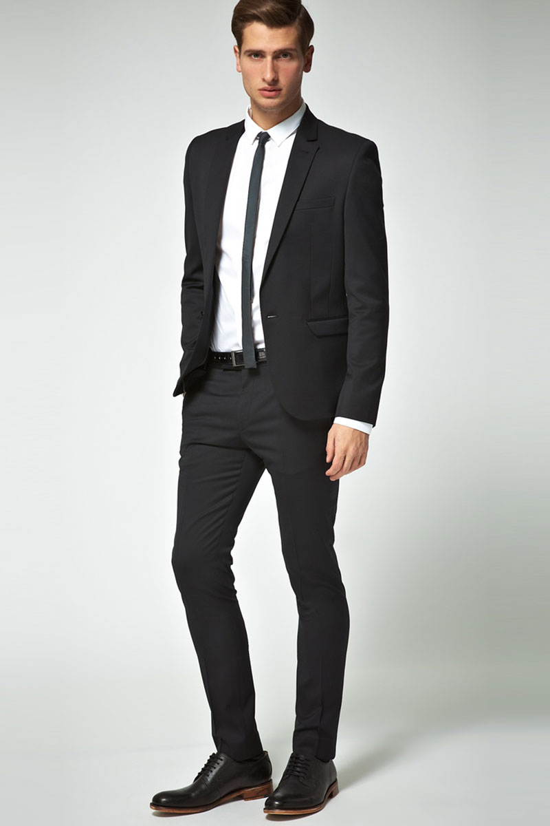 black formal suit's design