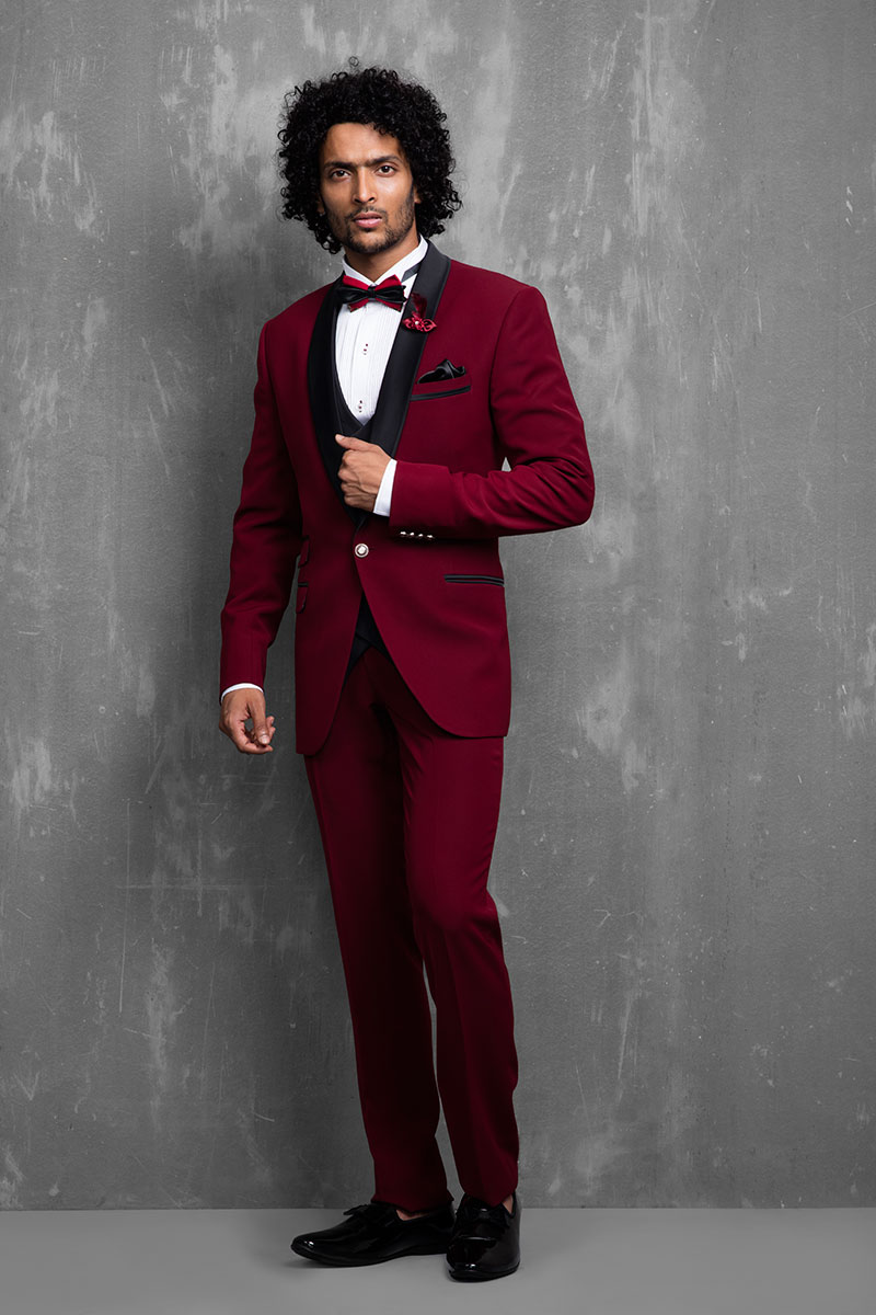 red suit for groom